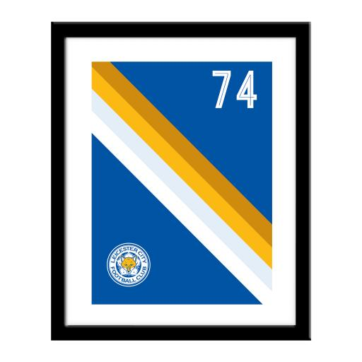 Personalised Leicester City FC Stripe Print.