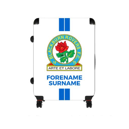Personalised Blackburn Rovers Stripe Large Suitcase.