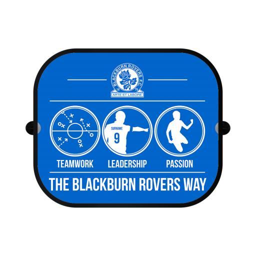 Personalised Blackburn Rovers FC Way Car Sunshade.