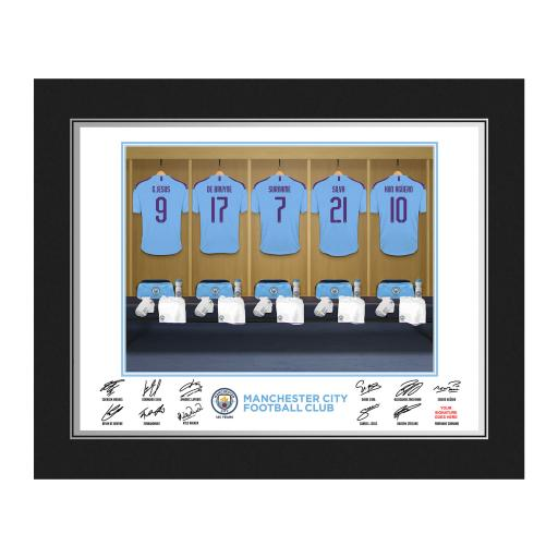 Manchester City FC Dressing Room Photo Folder