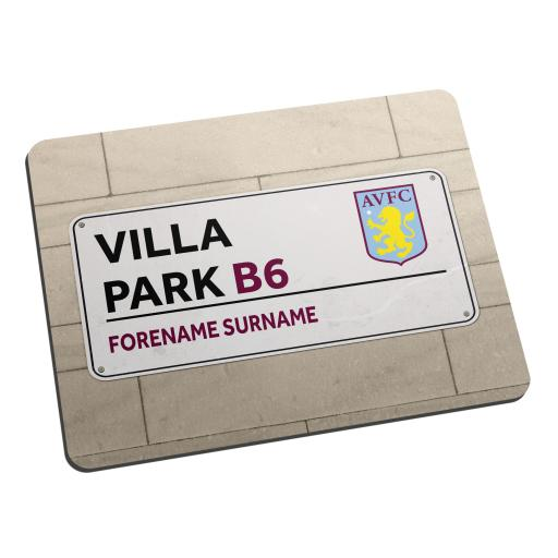 Aston Villa FC Street Sign Mouse Mat