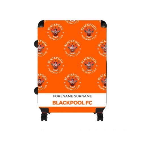 Personalised Blackpool Mini Crest Large Suitcase.