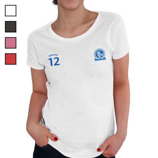 Blackburn Rovers FC Ladies Sports T-Shirt