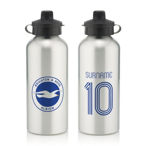 Brighton & Hove Albion FC Retro Shirt Water Bottle