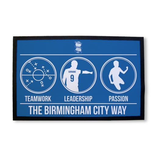 Personalised Birmingham City FC Way Door Mat.