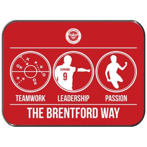 Personalised Brentford FC Way Rear Car Mat.