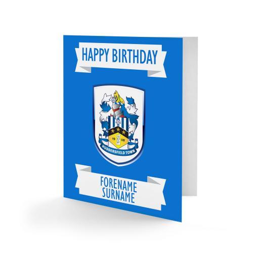 Huddersfield Town Crest Birthday Card
