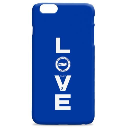 Brighton & Hove Albion FC Love Hard Back Phone Case