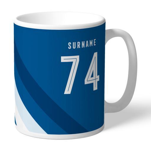 Personalised Leeds United FC Stripe Mug.