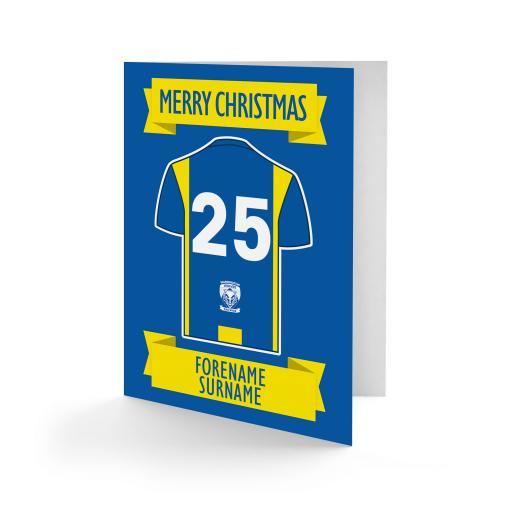 Warrington Wolves Shirt Christmas Card