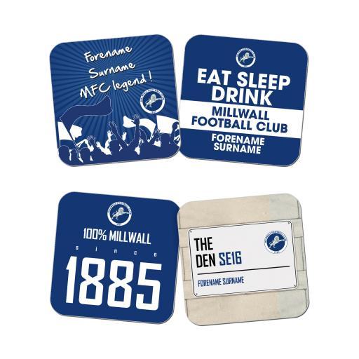 Personalised Millwall FC Coasters.