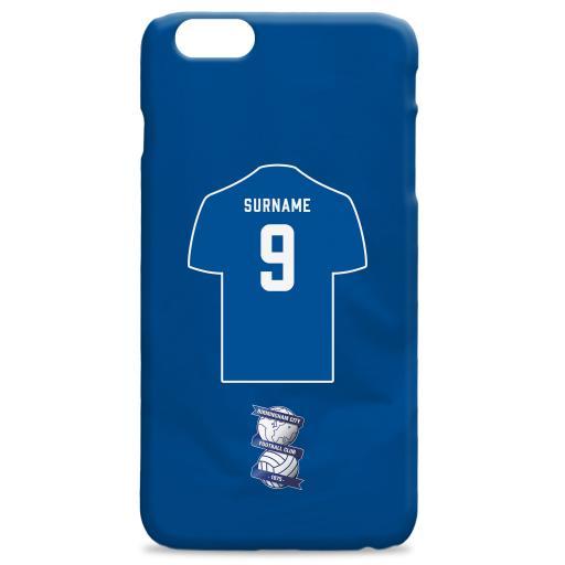 Personalised Birmingham City Retro Shirt Hard Back Phone Case.