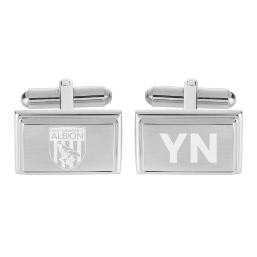 Personalised West Bromwich Albion FC Crest Cufflinks.