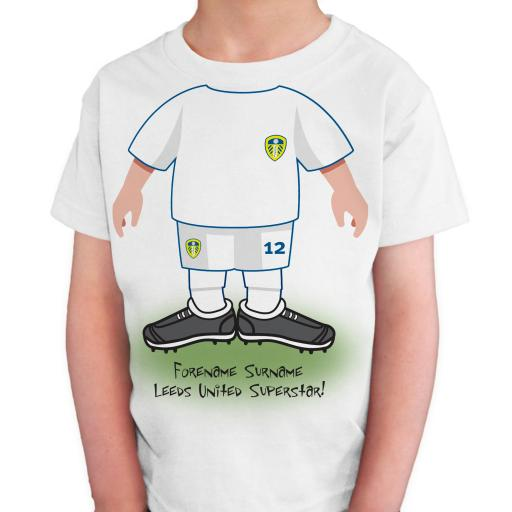 Leeds United FC Kids Use Your Head T-Shirt
