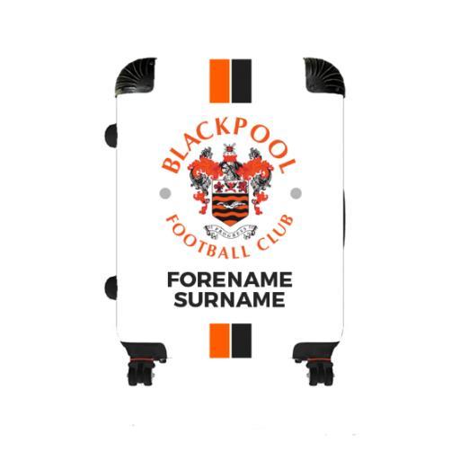 Personalised Blackpool Stripe Medium Suitcase.