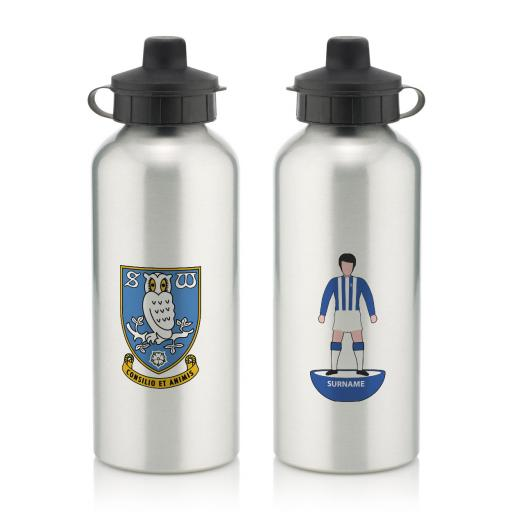 Personalised Sheffield Wednesday Player Figure Water Bottle.