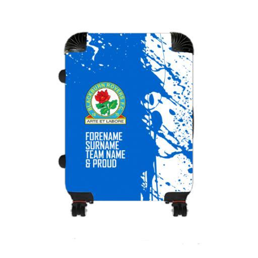 Personalised Blackburn Rovers Proud Medium Suitcase.