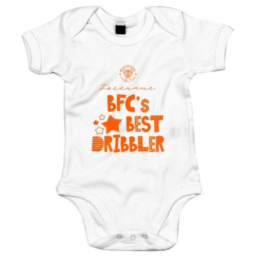 Personalised Blackpool FC Best Dribbler Baby Bodysuit.