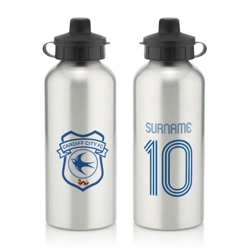Cardiff City Retro Shirt Water Bottle