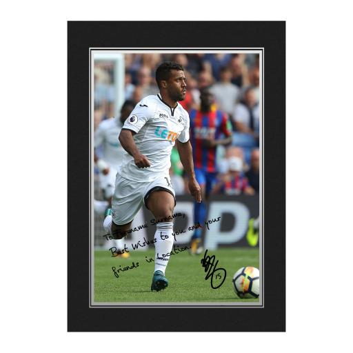 Swansea City AFC Routledge Autograph Photo Folder
