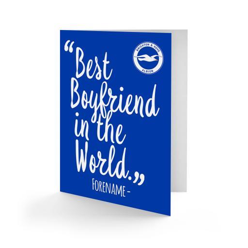 Brighton & Hove Albion FC Best Boyfriend In The World Card