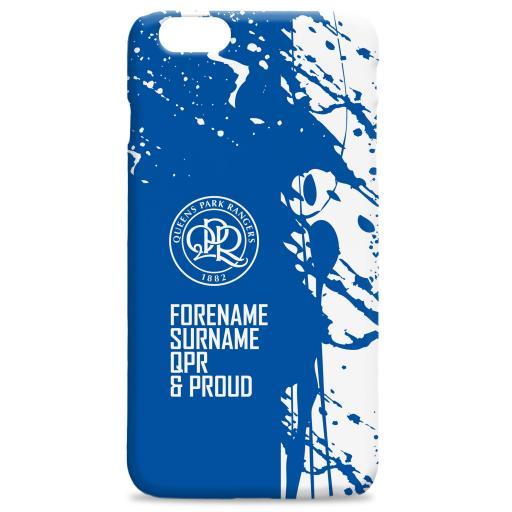 Personalised Queens Park Rangers FC Proud Hard Back Phone Case.