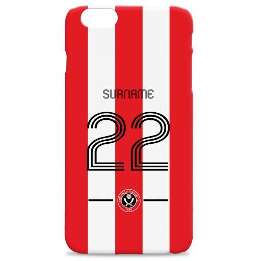 Personalised Sheffield United Retro Shirt Hard Back Phone Case.