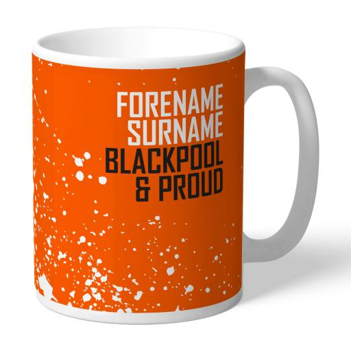 Personalised Blackpool FC Proud Mug.