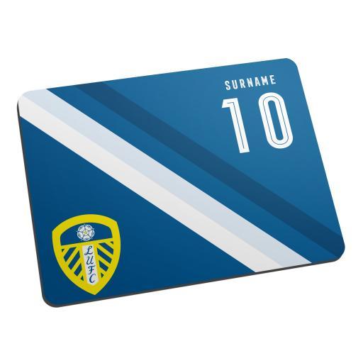 Personalised Leeds United FC Stripe Mouse Mat.