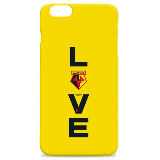 Watford FC Love Hard Back Phone Case