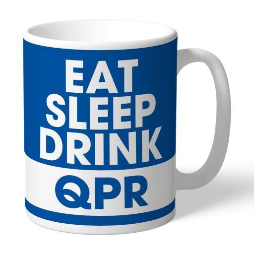 Queens Park Rangers FC Eat Sleep Drink Mug
