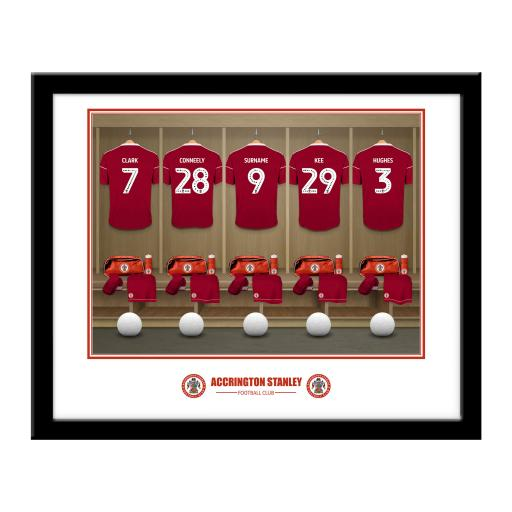 Accrington Stanley FC Dressing Room Framed Print
