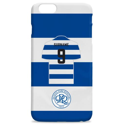 Personalised Queens Park Rangers FC Shirt Hard Back Phone Case.