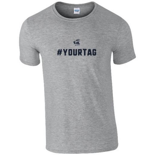 Scunthorpe United FC Crest Hashtag T-Shirt