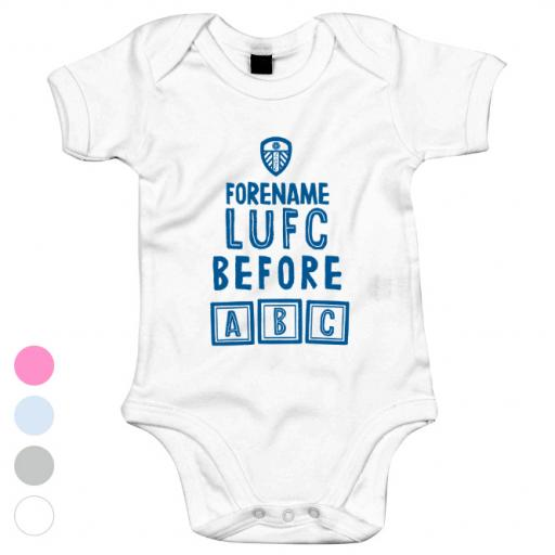 Leeds United FC Before ABC Baby Bodysuit