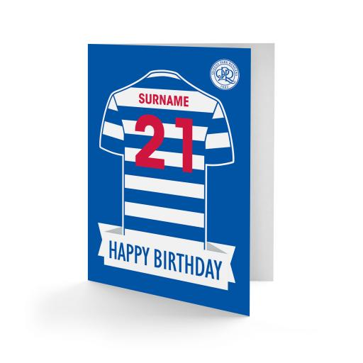 Queens Park Rangers FC Shirt Birthday Card