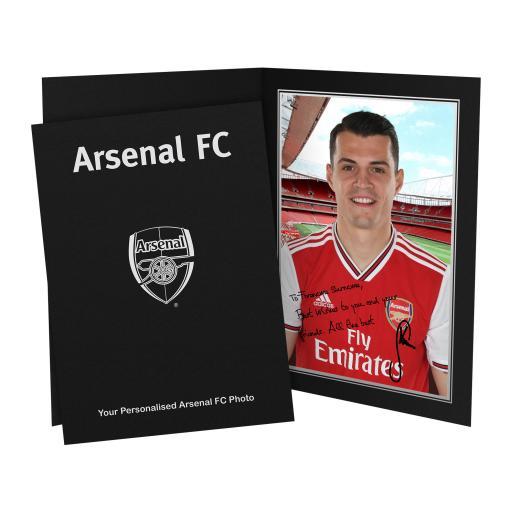 Arsenal FC Xhaka Autograph Photo Folder