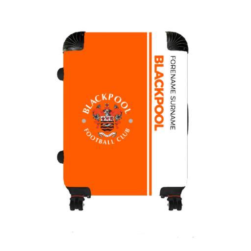 Personalised Blackpool Crest Medium Suitcase.