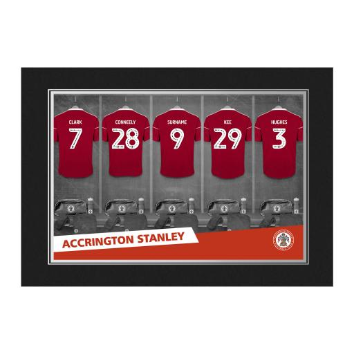 Accrington Stanley FC 9x6 Dressing Room Photo Folder