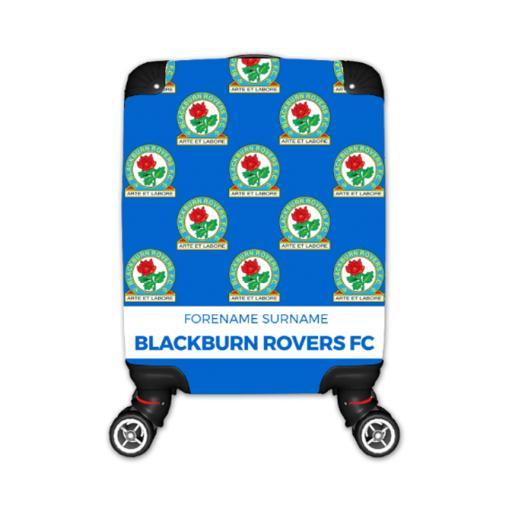Personalised Blackburn Rovers Mini Crest Kid's Suitcase.