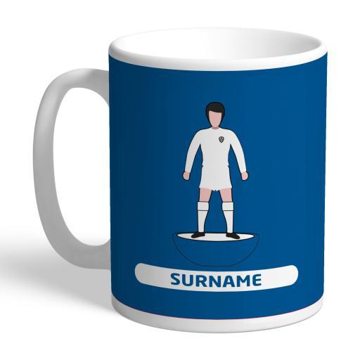 Personalised Leeds United FC Player Figure Mug.
