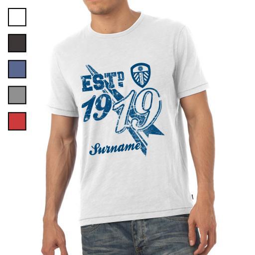 Leeds United FC Mens Established T-Shirt
