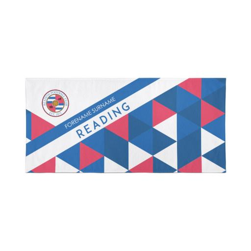 Reading Personalised Towel - Geometric Design - 80 x 160