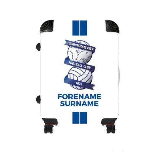 Personalised Birmingham City Stripe Medium Suitcase.