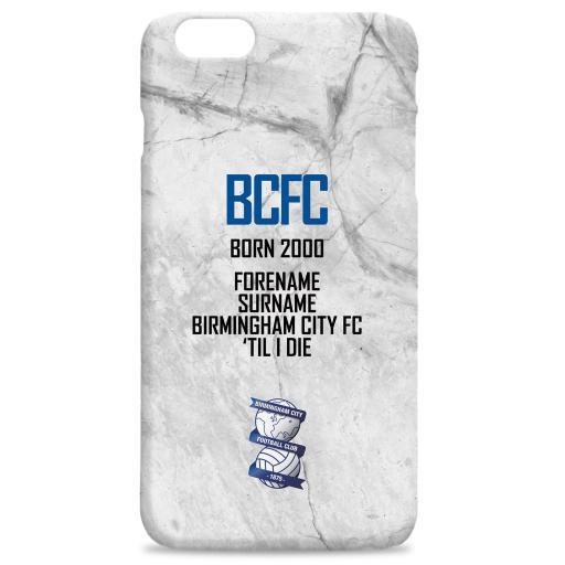 Personalised Birmingham City FC 'Til I Die Hard Back Phone Case.