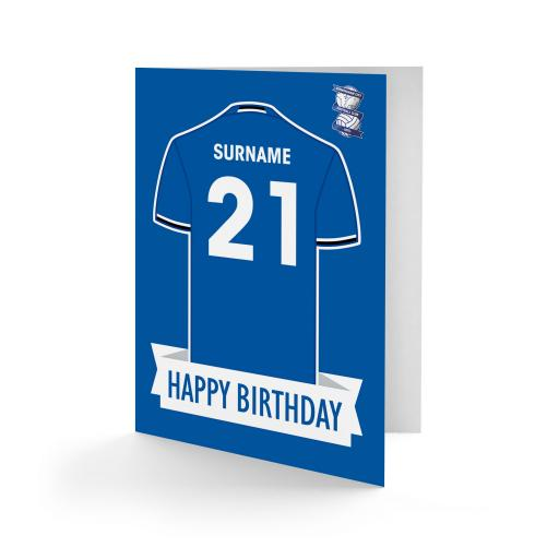 Birmingham City FC Shirt Birthday Card