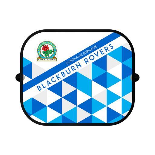 Personalised Blackburn Rovers FC Patterned Car Sunshade.