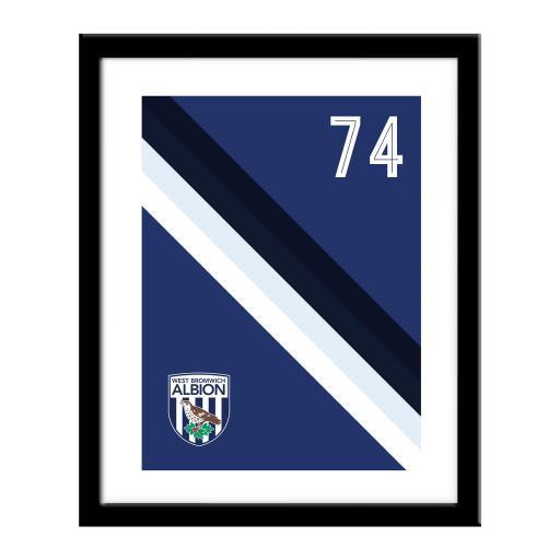 West Bromwich Albion FC Stripe Print