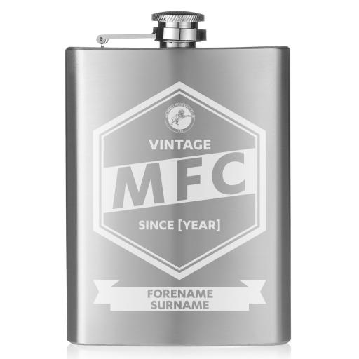 Millwall FC Vintage Hip Flask