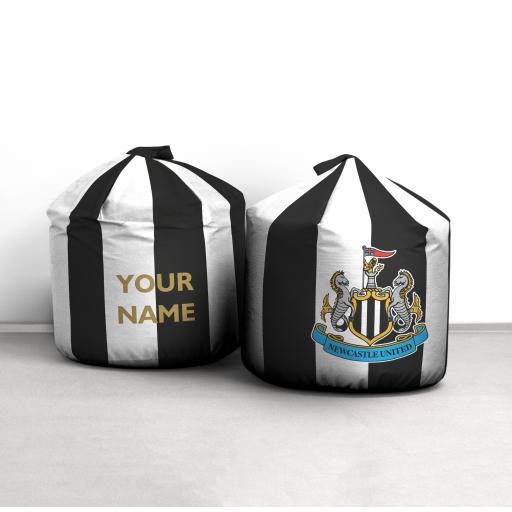 Personalised Newcastle United FC Crest Bean Bag.